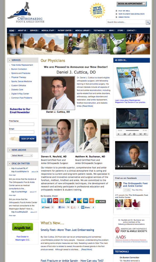 Orthopedic Surgeons Website Design